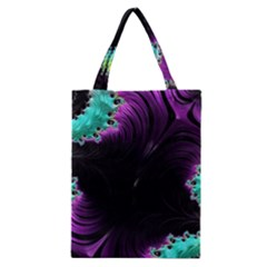 Fractals Spirals Black Colorful Classic Tote Bag
