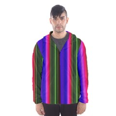 Abstract Background Pattern Textile 4 Hooded Wind Breaker (men)