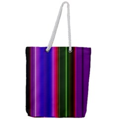 Abstract Background Pattern Textile 4 Full Print Rope Handle Tote (large)
