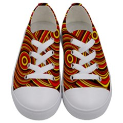 Fractal Art Mathematics Generated Kids  Low Top Canvas Sneakers