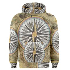 Map Vintage Nautical Collage Men s Pullover Hoodie