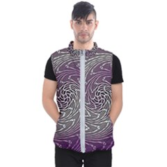 Graphic Abstract Lines Wave Art Men s Puffer Vest