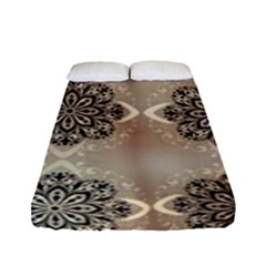 Flower Pattern Pattern Art Fitted Sheet (full/ Double Size)