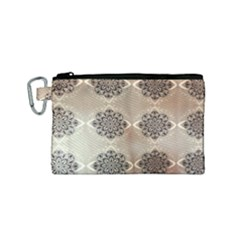 Flower Pattern Pattern Art Canvas Cosmetic Bag (small)