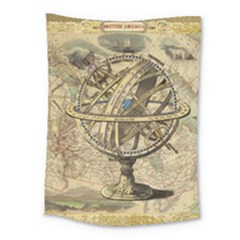 Map Compass Nautical Vintage Medium Tapestry