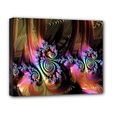 Fractal Colorful Background Deluxe Canvas 20  X 16