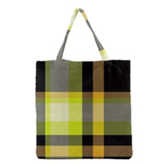 Tartan Abstract Background Pattern Textile 5 Grocery Tote Bag