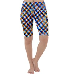 Kaleidoscope Pattern Ornament Cropped Leggings