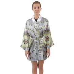 Mandala Fractal Decorative Long Sleeve Kimono Robe