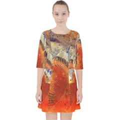 Dirty Dirt Image Spiral Wave Pocket Dress