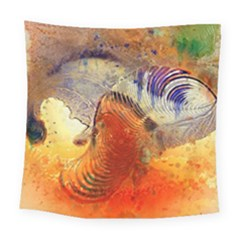 Dirty Dirt Image Spiral Wave Square Tapestry (large)