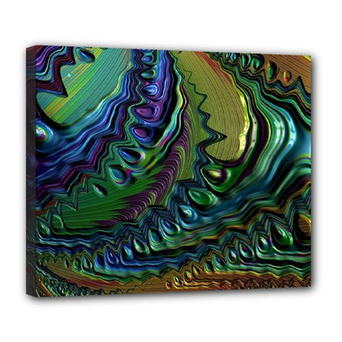 Fractal Art Background Image Deluxe Canvas 24  X 20