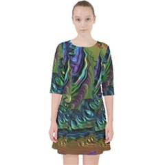 Fractal Art Background Image Pocket Dress