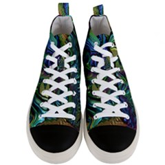 Fractal Art Background Image Men s Mid Top Canvas Sneakers