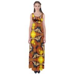 Dancing Butterfly Kaleidoscope Empire Waist Maxi Dress