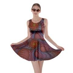 Fractal Red Fractal Art Digital Art Skater Dress