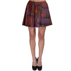 Fractal Red Fractal Art Digital Art Skater Skirt