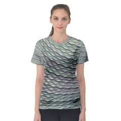 Art Design Style Decorative Women s Sport Mesh Tee