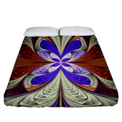 Fractal Splits Silver Gold Fitted Sheet (california King Size)