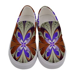 Fractal Splits Silver Gold Women s Canvas Slip Ons