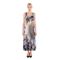 Fractal Art Design Fantasy 3d Sleeveless Maxi Dress