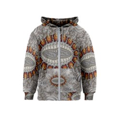 Fractal Fantasy Design Imagination Kids  Zipper Hoodie