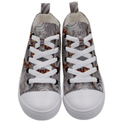 Fractal Fantasy Design Imagination Kid s Mid Top Canvas Sneakers