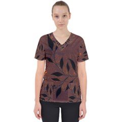 Texture Pattern Background Scrub Top