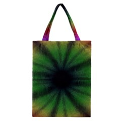 Sunflower Digital Flower Black Hole Classic Tote Bag