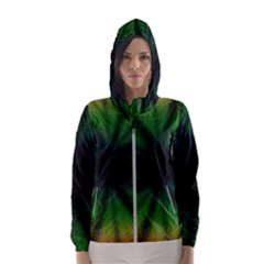 Sunflower Digital Flower Black Hole Hooded Wind Breaker (women)