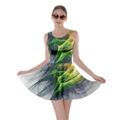 Fractal Art Paint Pattern Texture Skater Dress