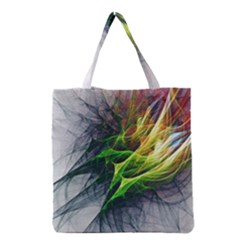 Fractal Art Paint Pattern Texture Grocery Tote Bag