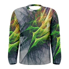Fractal Art Paint Pattern Texture Men s Long Sleeve Tee