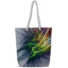 Fractal Art Paint Pattern Texture Full Print Rope Handle Tote (small)