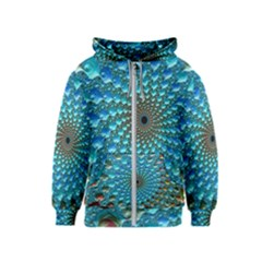 Fractal Art Design Pattern Kids  Zipper Hoodie