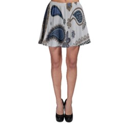 Pattern Embroidery Fabric Sew Skater Skirt