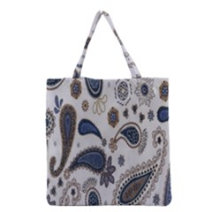 Pattern Embroidery Fabric Sew Grocery Tote Bag