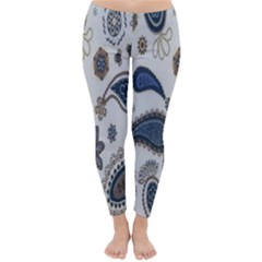 Pattern Embroidery Fabric Sew Classic Winter Leggings