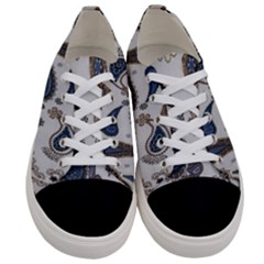 Pattern Embroidery Fabric Sew Women s Low Top Canvas Sneakers