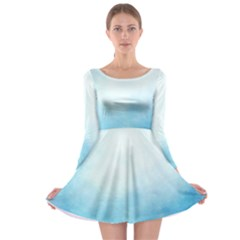 Ombre Long Sleeve Skater Dress