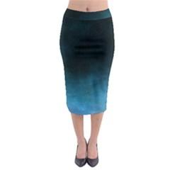Ombre Midi Pencil Skirt