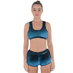 Ombre Racerback Boyleg Bikini Set
