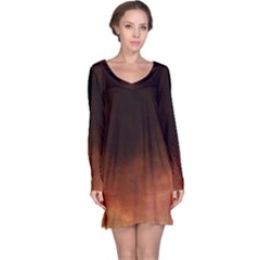 Ombre Long Sleeve Nightdress
