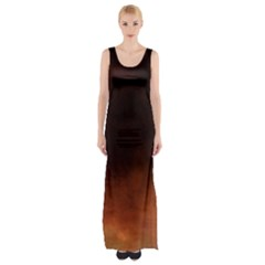 Ombre Maxi Thigh Split Dress