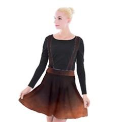 Ombre Suspender Skater Skirt