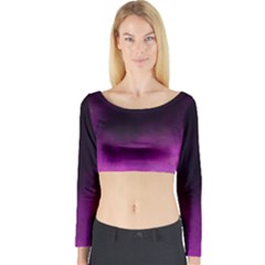 Ombre Long Sleeve Crop Top