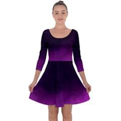 Ombre Quarter Sleeve Skater Dress