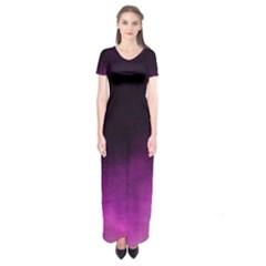 Ombre Short Sleeve Maxi Dress