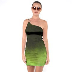 Ombre One Soulder Bodycon Dress