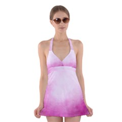 Ombre Halter Dress Swimsuit
